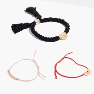 3 Madewell Corded Bracelets